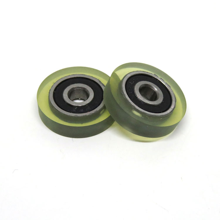 625RS 5x22x5mm PU coated roller bill counters bearing roller