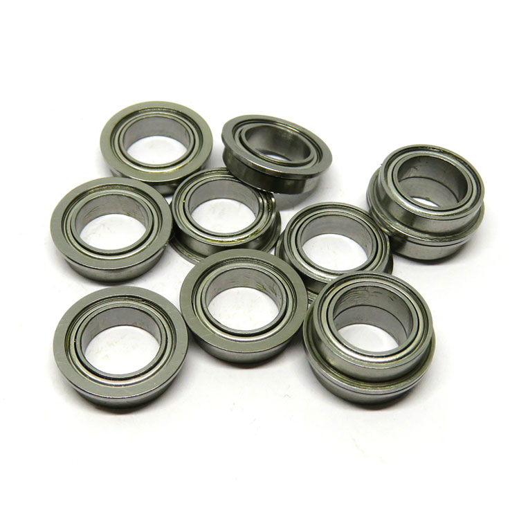 SMF115ZZ Flanged Bearing Stainless Steel Shielded 5x11x4mm Miniature Ball Bearings MF115-2Z