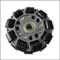 100mm Double Plastic Omni Wheel with Bearing 14058