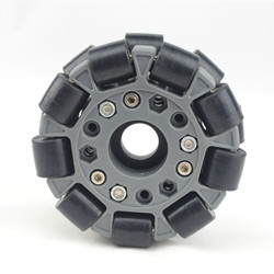 4 inch 100mm double nylon rubber omni wheel with bearing rollers 14041