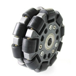 100mm Double Plastic Omni Wheel with Central Bearings 14060