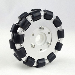 5inch 127mm Double Aluminum Omni Wheel with bearing rollers 14073
