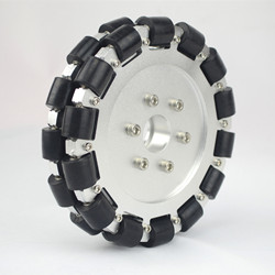 (6 inch) 152mm Double Aluminum Omni Wheel with bearing rollers 14083