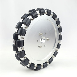 (8 inch) 203mm double aluminum large omni wheel with bearing rollers 14125