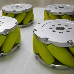 A set of 12 inch 305mm heavy duty industrial mecanum wheel NM305A( load 3000kg)