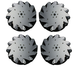 A Set of (10 inch) 254mm Aluminum Mecanum Wheel with Bearing Rollers (4 pcs)14131