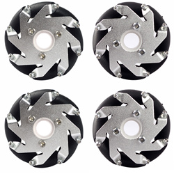 60mm Aluminum LEGO Compatible Mecanum wheels set( 2 Left, 2 Right) Basic 14159