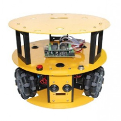 3WD 100mm Omni Wheel Mobile arduino Robot Kit 10013