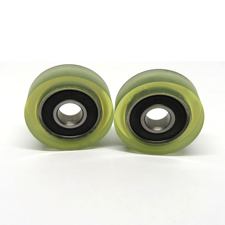 6000-2RS Polyurethane Roller wheels for sliding window frames 10x35x11mm