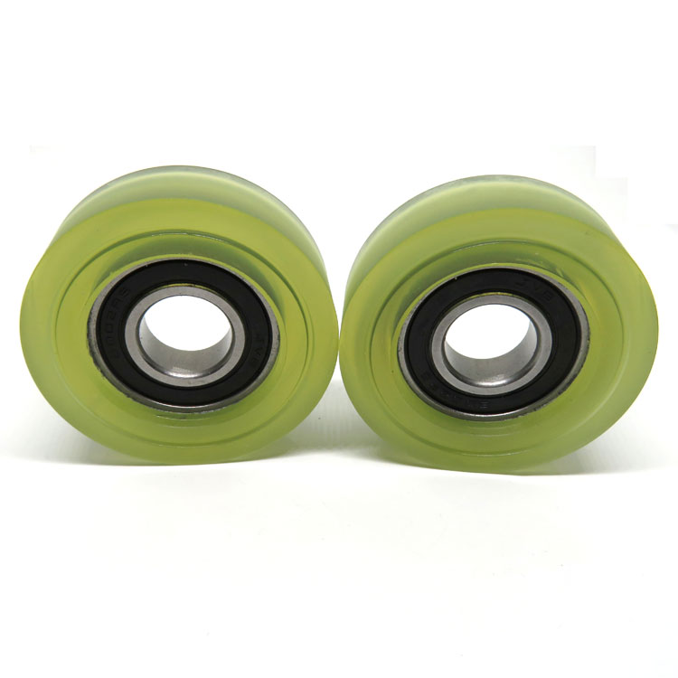 High quality 15x50x15mm PU Mute Wheel 6002-2RS wheels for sliding door